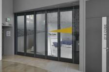 Mur mobile vitré